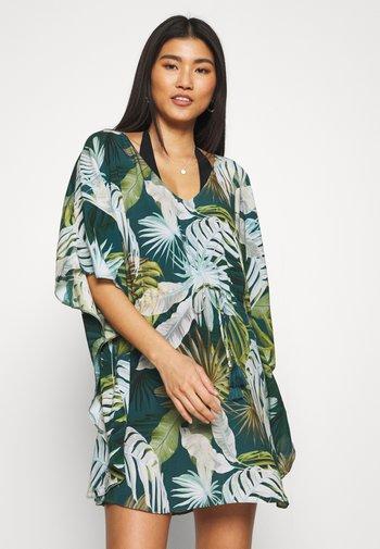 HAILEY TUNIQUE - Beach accessory - printed green blue