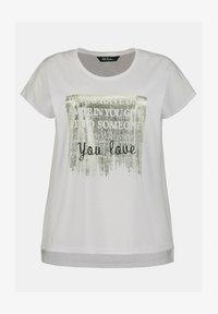 Ulla Popken - STATEMENT FOIL  - Print T-shirt - blanc - 1