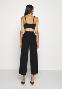 ONLY - ONLLINA CULOTTE PANT - Trousers - black - 2