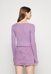 BDG Urban Outfitters - NOORI TIE FRONT - Cardigan - lilac - 2