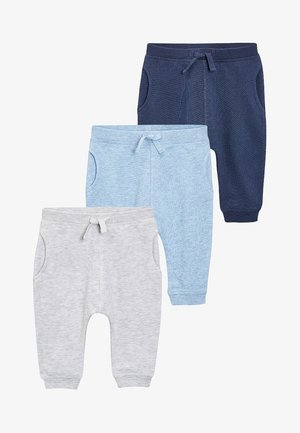 3 PACK - Trousers - grey/blue