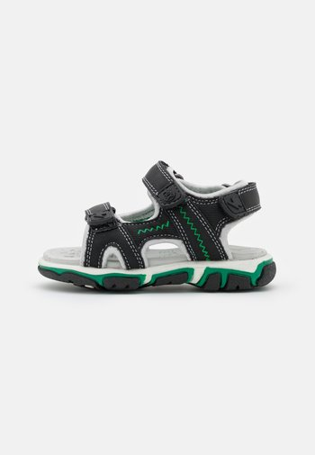 WAVE UNISEX - Walking sandals - black/green