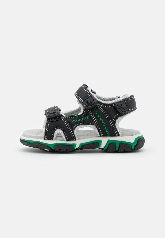 WAVE UNISEX - Outdoorsandalen - black/green