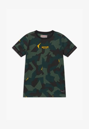 SEF - Print T-shirt - dark green