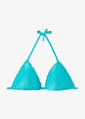 Bikini top - paradise blue shine