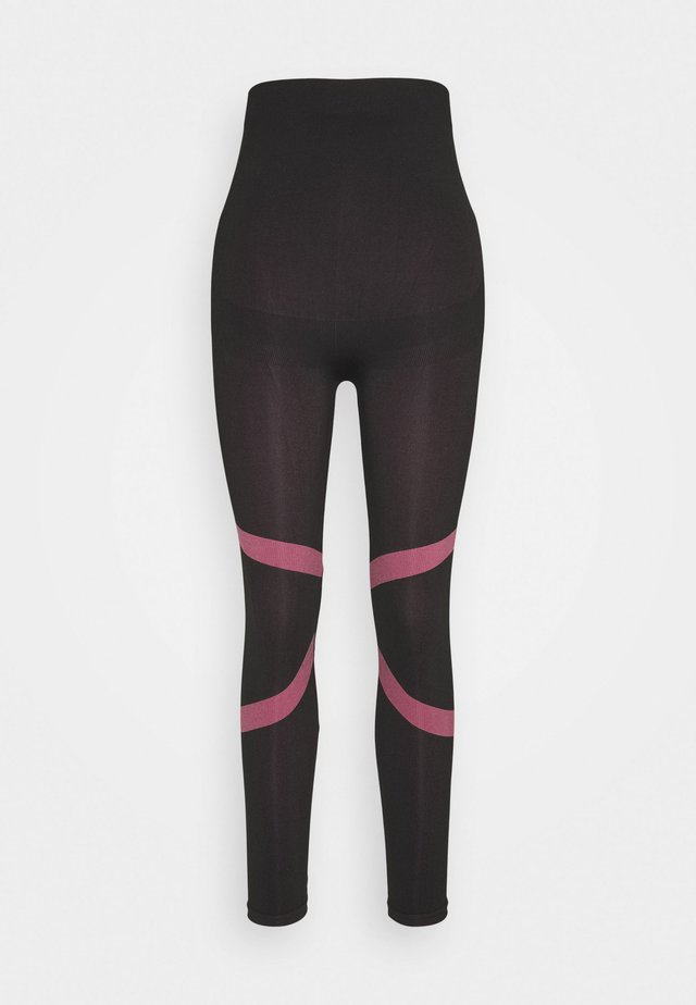 MLFREYA ACTIVE TIGHTS - Leggings - black/pink lemonade