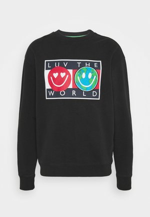 TJ US LUV THE WORLD CREW  - Sweater - black