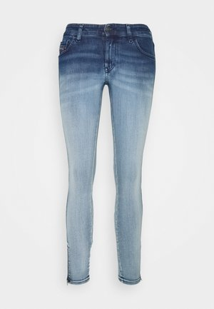 SLANDY-LOW-ZIP - Jeansy Skinny Fit - bleached indigo