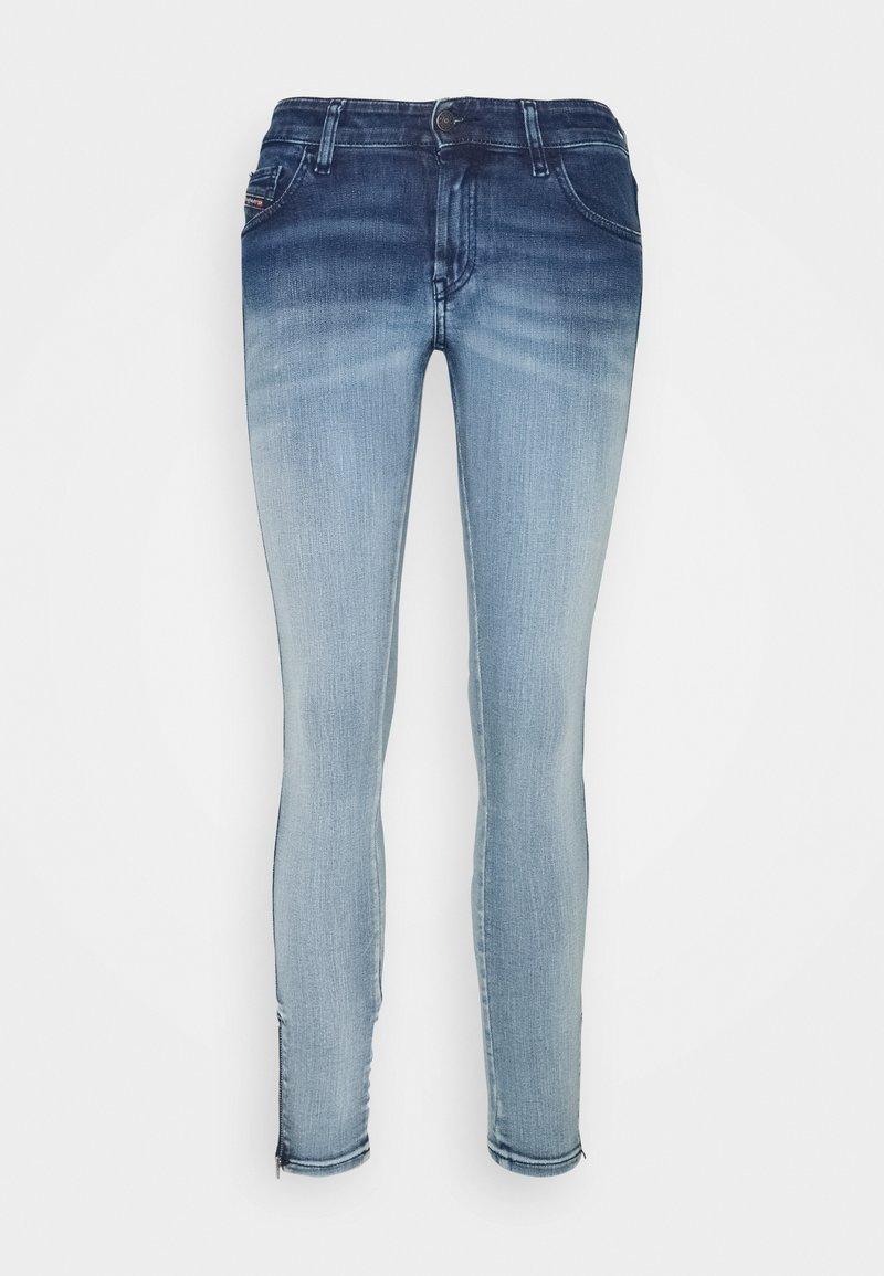 Diesel - SLANDY-LOW-ZIP - Jeans Skinny - bleached indigo