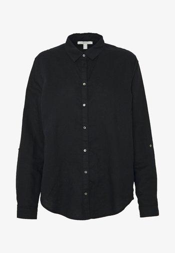 CORE - Button-down blouse - black