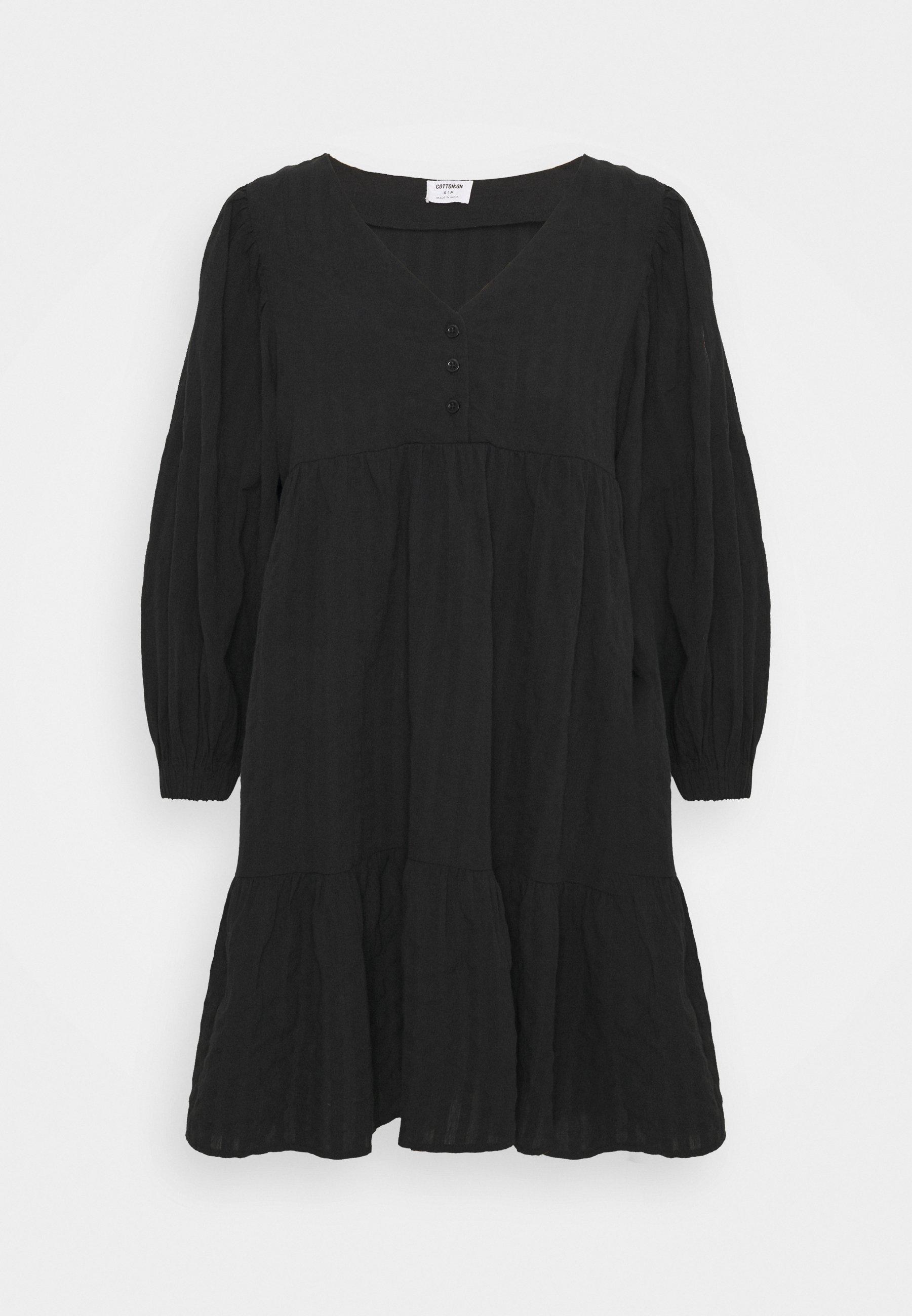 Women WOVEN ZERHA LONG SLEEVE SMOCK MINI DRESS - Day dress