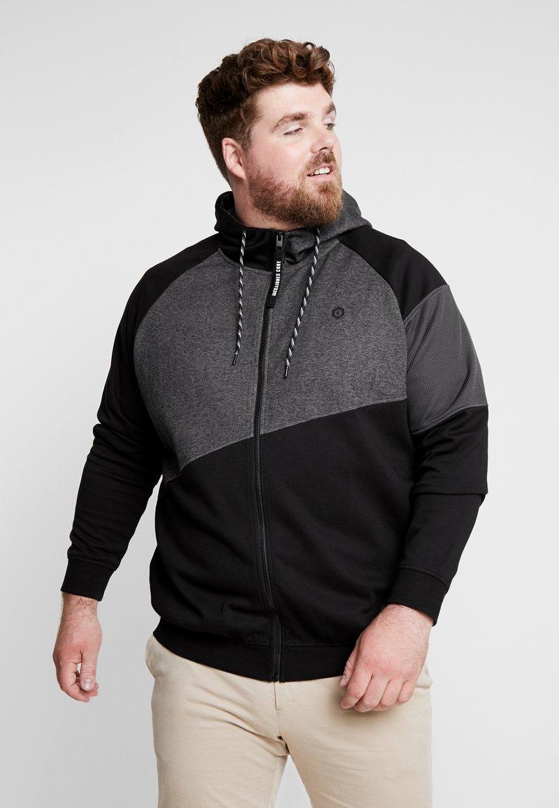 Jack & Jones - JCOTAKE  - Zip-up hoodie - black