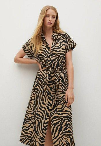 PATAGON - Shirt dress - halvbrun