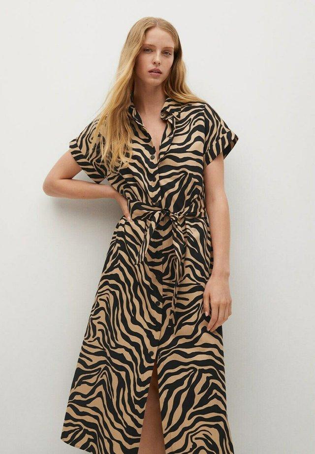 PATAGON - Vestido camisero - halvbrun