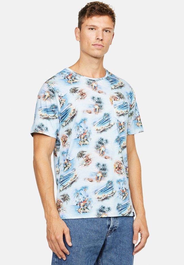 ETHAN - T-shirt con stampa - blau