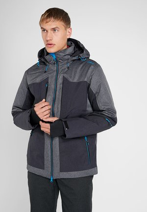 MAN JACKET LONG ZIP HOOD - Skijacke - antracite