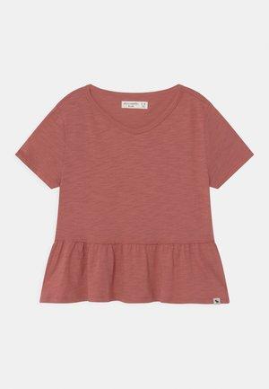 SMOCKED TOP  - T-Shirt basic - rust