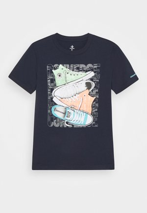 SHORT SLEEVE CHUCK TAYLOR GRAPHIC UNISEX - Print T-shirt - obsidian