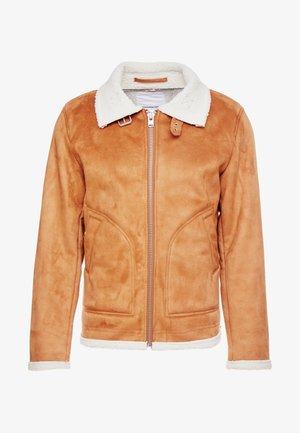 JACKET - Faux leather jacket - light brown