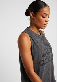 adidas Performance - WINNERS TANK - Topper - black melange - 3