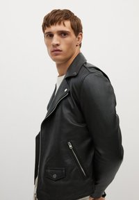 Mango - PERFECT - Leather jacket - schwarz - 3