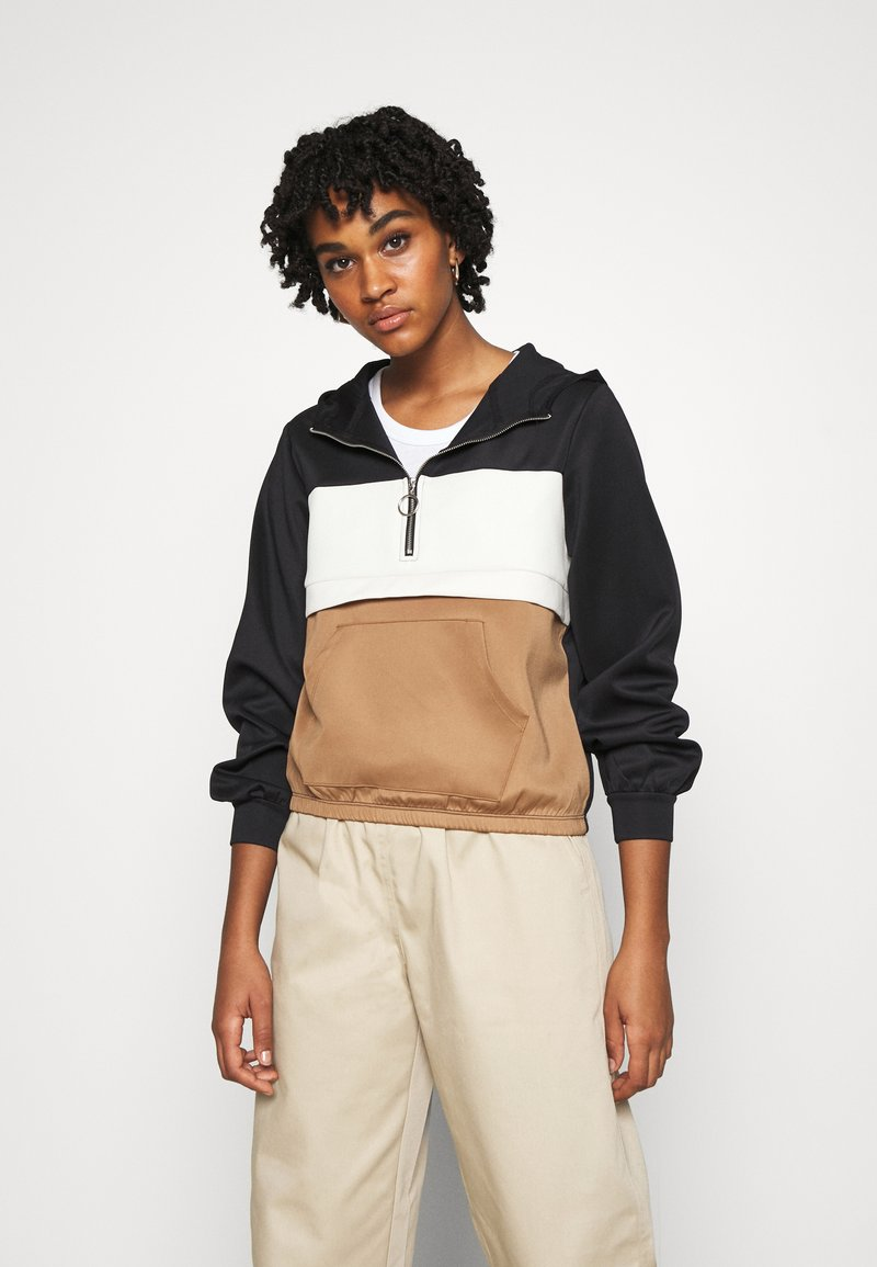 ONLY - ONLSCARLA  - Summer jacket - black/ ecru/ toasted coconut