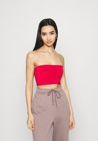 Missguided - SCULPTED SEAM FREE BASIC BANDEAU 3 PACK - Top - black/white/red - 5