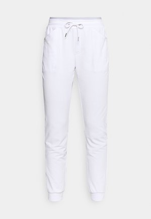 SOLE - Tracksuit bottoms - white