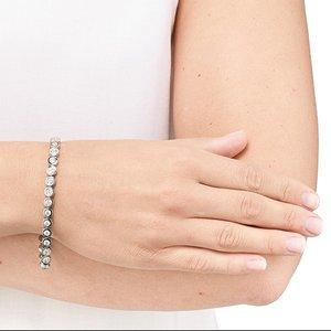 MIT SWAROVSKI ST - Bracelet - silberfarben poliert