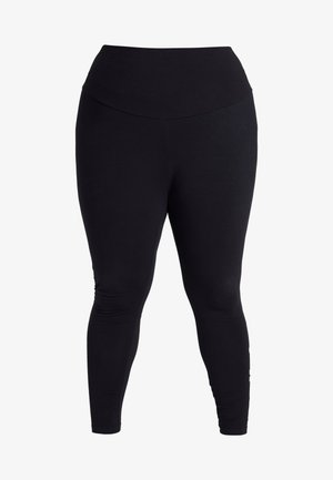 ESSENTIALS TRAINING SPORTS LEGGINGS - Legging - black/white