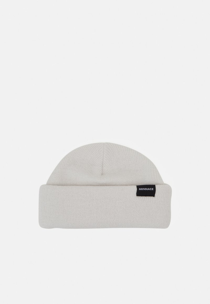 Mennace - MINI ROLL BEANIE WITH TAB - Berretto - off white
