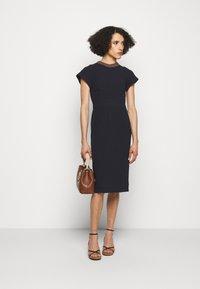 Victoria Beckham - Shift dress - navy - 1