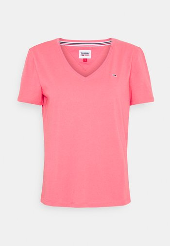 SOFT V NECK TEE - T-paita - botanical pink