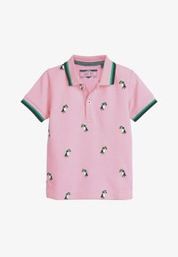 Next - PINK/BLUE TOUCAN POLO AND SHORTS SET (3MTHS-7YRS) - Shorts - pink - 1