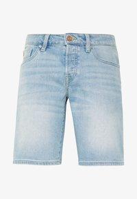 Denim shorts - paint it blauw