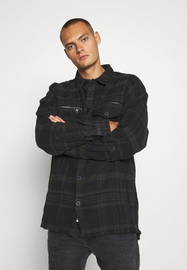 ALBERT - Halflange jas - black/anthra