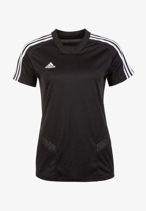 TIRO 19 AEROREADY CLIMACOOL JERSEY - T-Shirt print - black/white