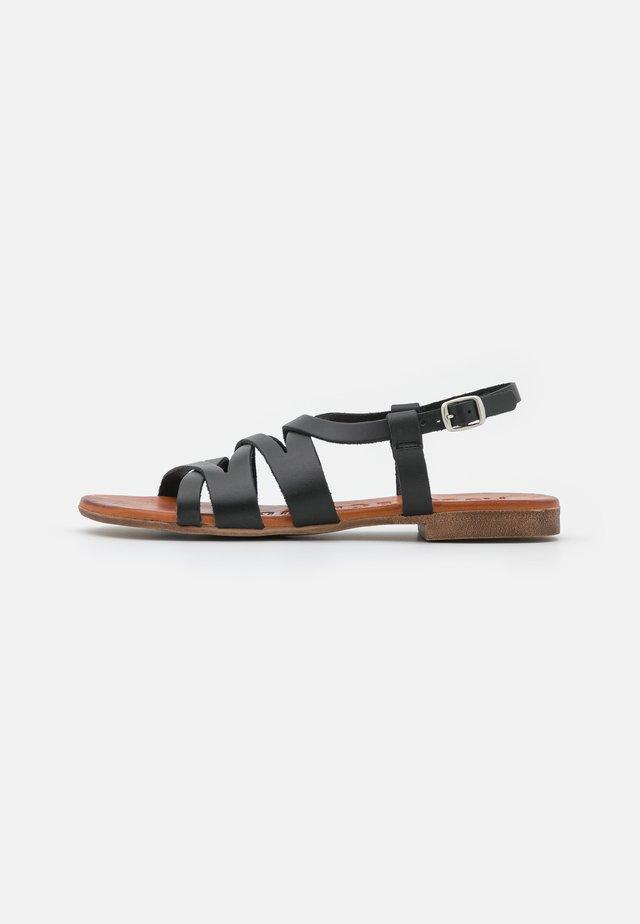 ESTER - Sandaalit nilkkaremmillä - black