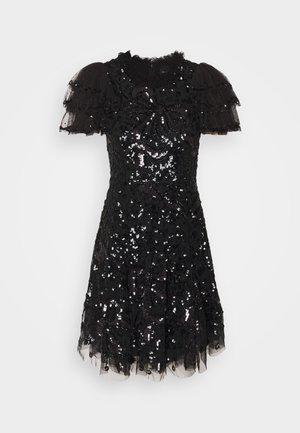 SHIRLEY RIBBON MINI DRESS - Cocktailjurk - ballet black