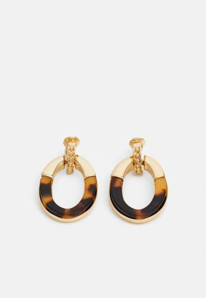 KELLINCE DOORKNOCKER - Earrings - gold-coloured/brown