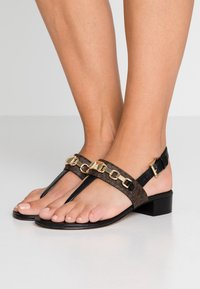 MICHAEL Michael Kors - CHARLTON - T-bar sandals - black/brown - 0
