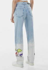 Bershka - Straight leg jeans - light blue - 2