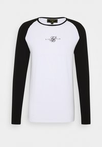 SIKSILK - SQUARE HEM TEE - Longsleeve - black/white - 3
