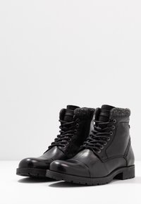 Jack & Jones - JFWMARLY - Lace-up ankle boots - black - 2