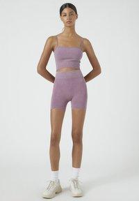 PULL&BEAR - Shorts - dark purple - 1