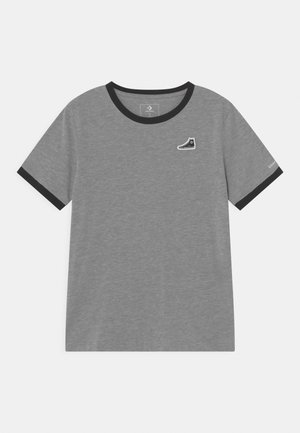 RINGER SNEAKER PATCH - T-shirt z nadrukiem - grey heather