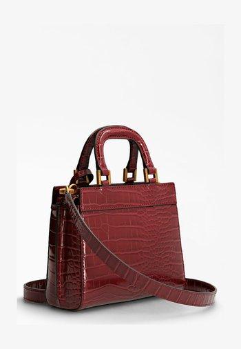 KATEY KROKO - Handbag - bordeaux