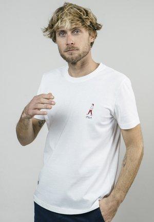AKITO WALKING  - Print T-shirt - white