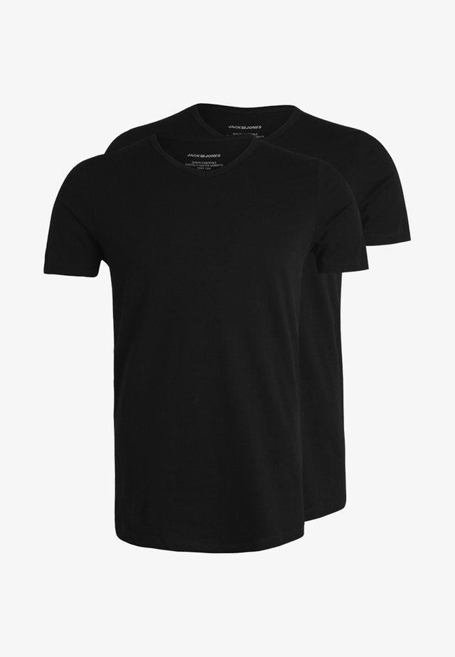 JACBASIC V-NECK TEE 2 PACK  - Maglietta intima - black