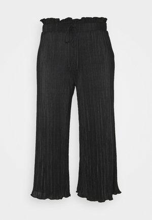 PLISSE TROUSER - Trousers - black